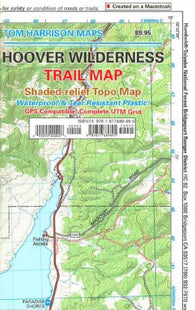 Buy map Hoover Wilderness, California by Tom Harrison Maps