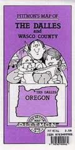 Buy map The Dalles and Wasco County, Oregon by Pittmon Map Company
