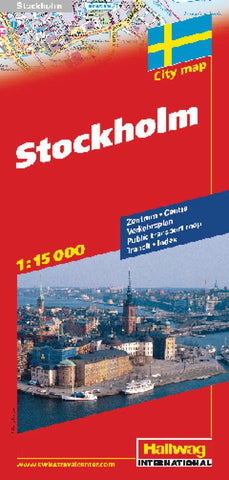 Buy map Stockholm, Sweden by Hallwag