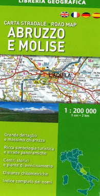 Buy map Abruzzo and Molise, Italy, Road Map by Libreria Geografica