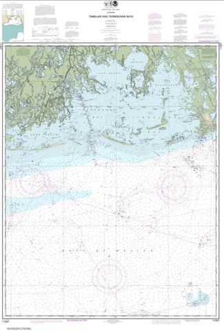 Buy map Timbalier and Terrebonne Bays (11357-43) by NOAA