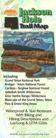 Buy map Jackson Hole Trail Map, 4th edition by Adventure Maps