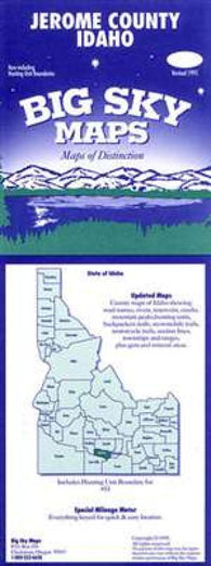 Buy map Jerome County, Idaho by Big Sky Maps