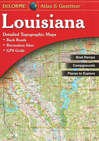 Buy map Louisiana Atlas and Gazetteer by DeLorme