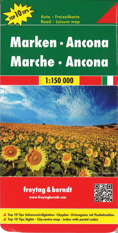 Buy map Marche and Ancona, Italy by Freytag-Berndt und Artaria