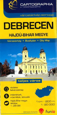 Buy map Debrecen, Hungary by Cartographia