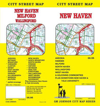 Buy map New Haven, CT Map by GM Johnson