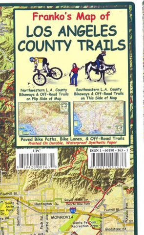 Buy map California Map, L.A. County Bikeways and Trails, folded, 2011 by Frankos Maps Ltd.