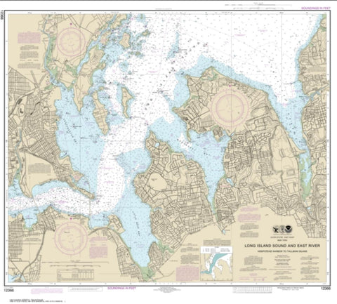 Buy map Long Island Sound and East River Hempstead Harbor to Tallman Island (12366-30) by NOAA