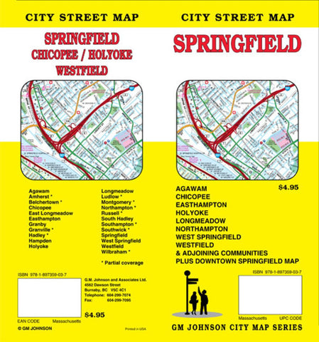 Buy map Springfield, Massachusetts by GM Johnson