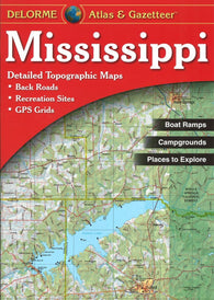Buy map Mississippi Atlas and Gazetteer by DeLorme