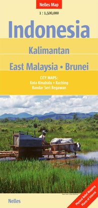 Buy map Indonesia, Kalimantan, East Malaysia and Brunei by Nelles Verlag GmbH