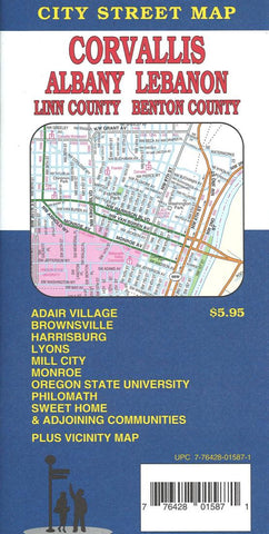 Buy map Corvallis, Albany, Lebanon and Sweet Home, Oregon by GM Johnson