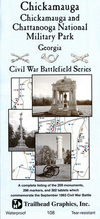 Buy map Chickamauga Battlefield #108 by Trailhead Graphics, Inc.