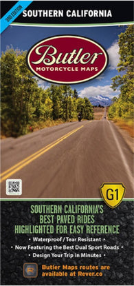 Buy map Southern California G1 Map by Butler Motorcycle Maps