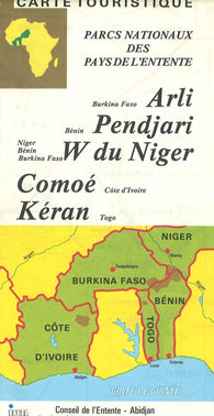 Buy map Africa, Western, National Parks by Institut Geographique National