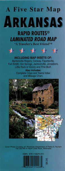 Buy map Arkansas Rapid Routes by Five Star Maps, Inc.