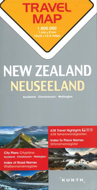 Buy map New Zealand Travel Map by Kunth Verlag