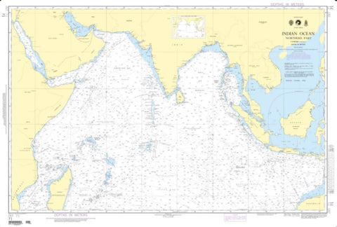 Buy map Indian Ocean - Northern Portion (NGA-71-4) by National Geospatial-Intelligence Agency