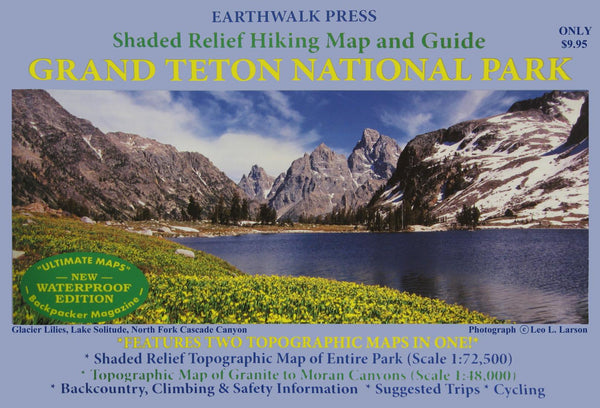 Buy map Grand Teton National Park, Wyoming, waterproof by Earthwalk Press