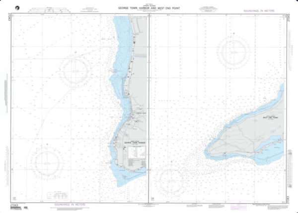 Buy map Georgetown Harbor And West End Point; Plan A: Georgetown Harbor (Grand Cayman) (NGA-27243-2) by National Geospatial-Intelligence Agency
