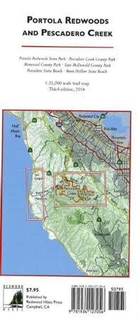 Buy map Portola Redwoods and Pescadero Creek by Redwood Hikes Press