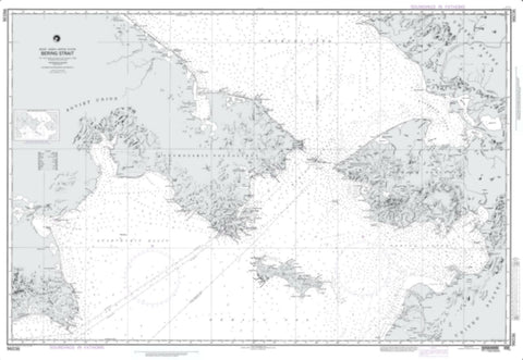 Buy map Bering Strait (Omega) (NGA-96036-2) by National Geospatial-Intelligence Agency