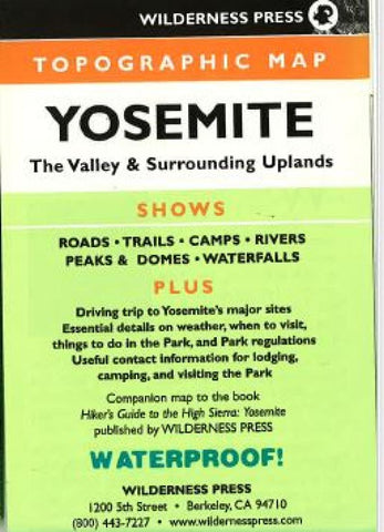Buy map Yosemite, California Topo Quad by Wilderness Press