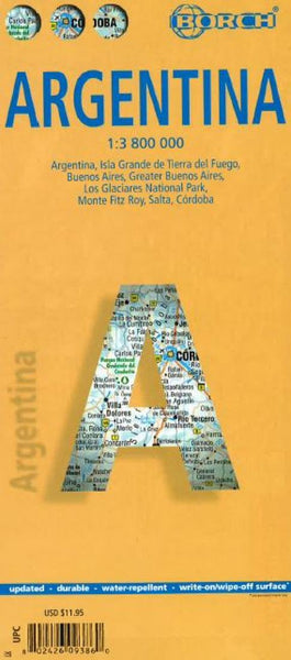 Buy map Argentina by Borch GmbH.