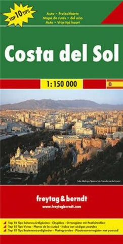 Buy map Costa del Sol, Spain by Freytag-Berndt und Artaria
