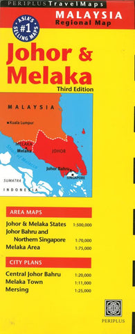 Buy map Johor and Melaka, Indonesia by Periplus Editions
