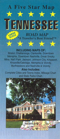 Buy map Tennessee by Five Star Maps, Inc.