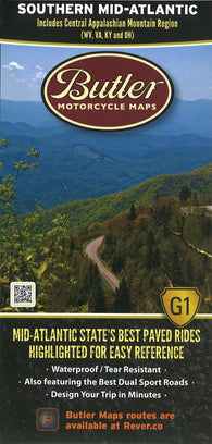 Buy map Butlers Motorcycle Map: Southern Mid-Atlantic by Butler Motorcycle Maps
