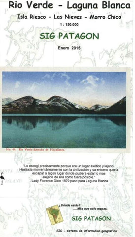Buy map Rio Verde-Laguna Blanca (Spanish edition) by SIG Patagon