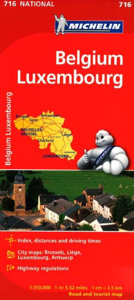 Buy map Belgium and Luxembourg (716) by Michelin Maps and Guides