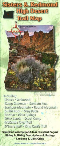 Buy map Sisters & Redmond High Desert Trail Map by Adventure Maps