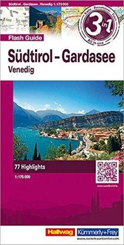 Buy map Southern Tyrol, Lake Garda, Venice, Flash Guide by Hallwag