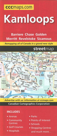 Buy map Kamloops, British Columbia, Street Map by Canadian Cartographics Corporation