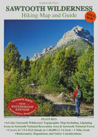 Buy map Sawtooth Wilderness, Idaho, waterproof by Earthwalk Press