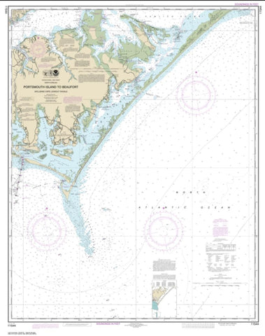 Buy map Portsmouth Island to Beaufort, Including Cape Lookout Shoals (11544-41) by NOAA