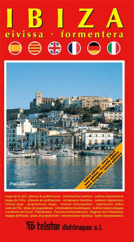 Buy map Ibiza, Eivissa and Formentera, Spain by Distrimapas Telstar, S.L.