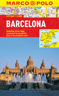 Buy map Barcelona, Spain by Marco Polo Travel Publishing Ltd