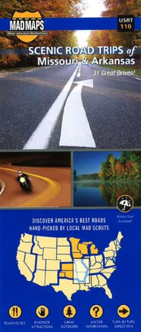 Buy map Missouri and Arkansas, Regional Scenic Tours by MAD Maps