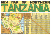Buy map New Map of Northern Tanzania by GT Maps
