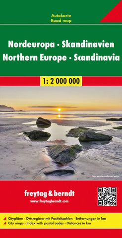 Buy map Europe, Northern, and Scandinavia by Freytag-Berndt und Artaria
