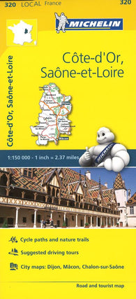 Buy map Cote D Or, Seine Et Loire, France (320) by Michelin Maps and Guides