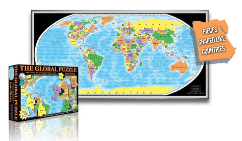 Buy map Global Puzzle, 600 piece by Broader View