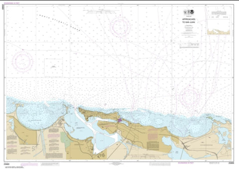 Buy map Approaches to San Juan Harbor (25669-1) by NOAA