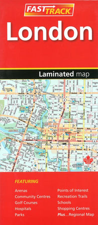 Buy map London, Ontario by Canadian Cartographics Corporation