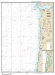 Buy map Yaquina Head to Columbia River; Netarts Bay (18520-27) by NOAA